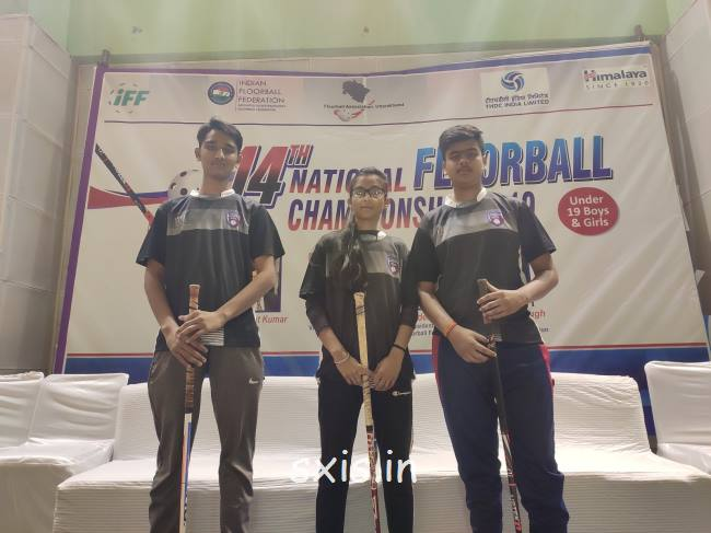 3 students selected for National floor ball competition